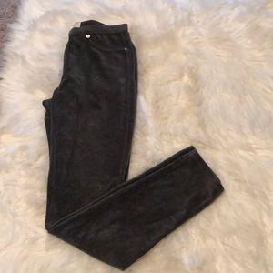 Micheal Kors- dark grey, cord leggings- Sm